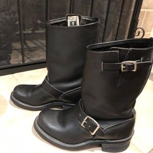 Frye Black Classic Engineer Boot - Size 7